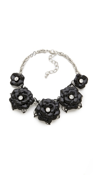 Kenneth Jay Lane Flower Statement Necklace