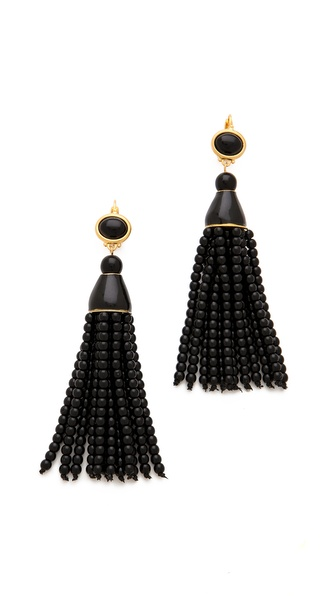 Kenneth Jay Lane Beaded Tassel Earrings