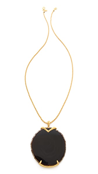 Kenneth Jay Lane Stone Pendant Necklace
