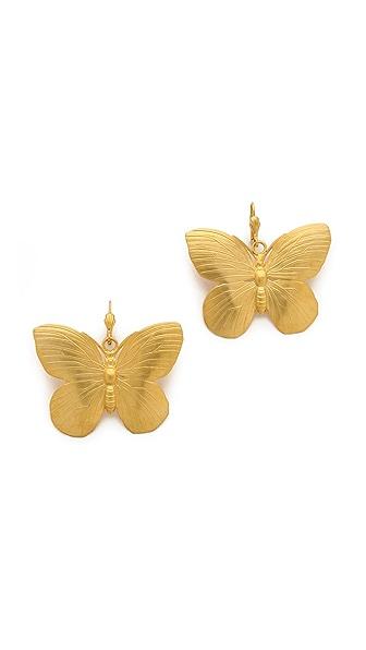 Kenneth Jay Lane Butterfly Earrings
