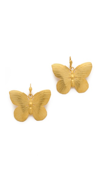 Kenneth Jay Lane Butterfly Earrings