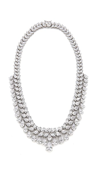 Kenneth Jay Lane Multi Grad Pear CZ Necklace
