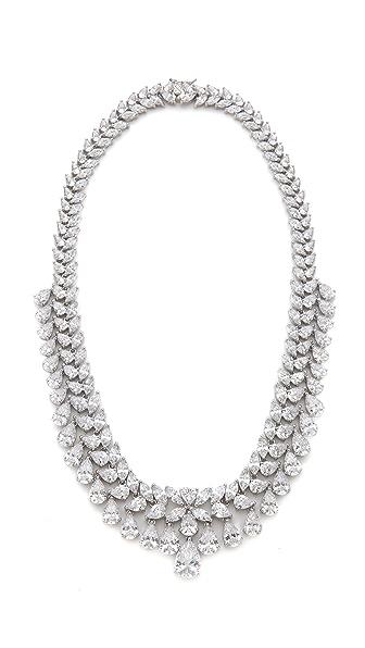 Kenneth Jay Lane Multi Grad Pear CZ Necklace