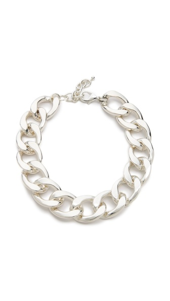 Kenneth Jay Lane Chain Link Choker Necklace