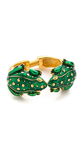 Kenneth Jay Lane Duel Frog Bracelet