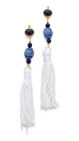Kenneth Jay Lane Tassel Earrings