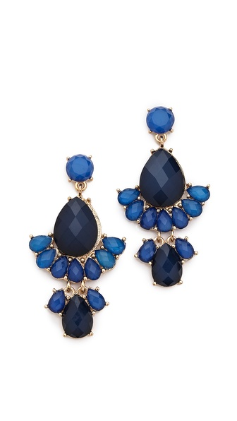 Kenneth Jay Lane Gem Regal Earrings