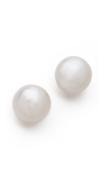 Kenneth Jay Lane Imitation Pearl Clip On Earrings