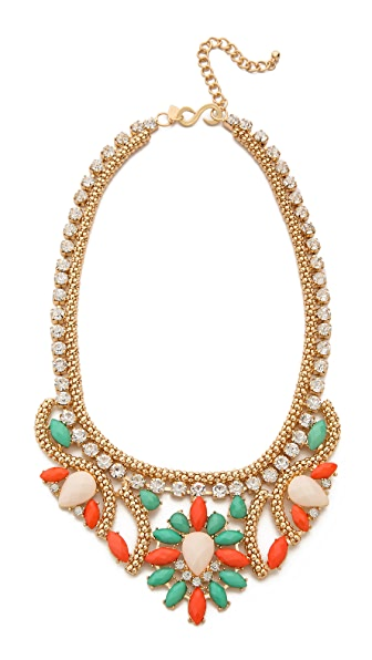 Kenneth Jay Lane Crystal Woven Necklace