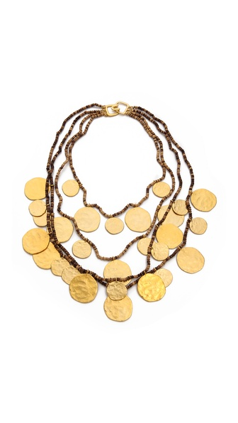 Kenneth Jay Lane Coin Layered Necklace