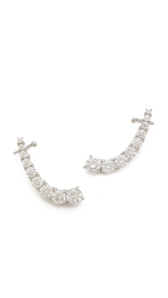 Kenneth Jay Lane Crystal Curved Ear Crawlers