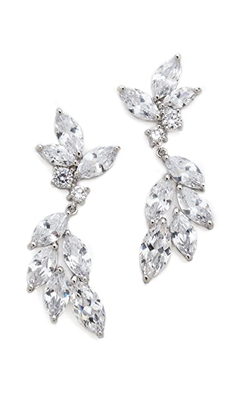 Kenneth Jay Lane Marquis Hanging Crystal Earrings