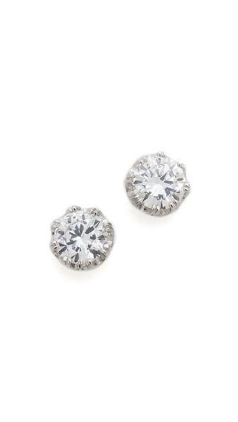 Kenneth Jay Lane Crystal Crown Stud Earrings