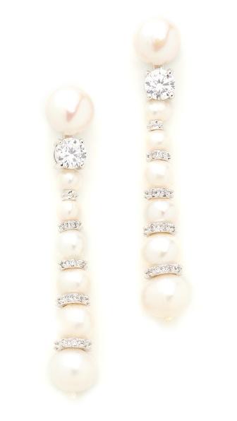 Kenneth Jay Lane Snowman Earrings
