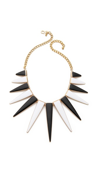 Kenneth Jay Lane Triangle Spike Necklace