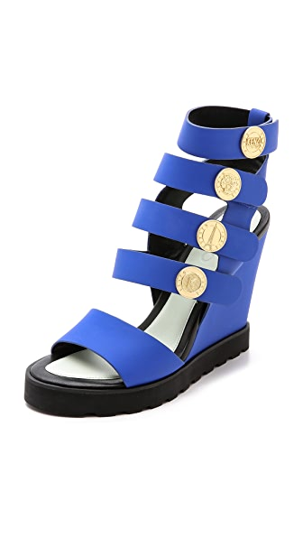 Kenzo Kenzo Victoire Wedge Sandals (Blue)