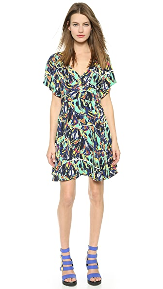 Kenzo Kenzo Torn Flowers Cross Front Dress (Black)