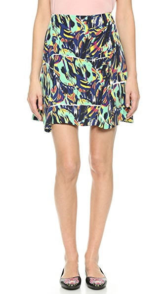 Kenzo Kenzo Torn Flowers Skirt (Black)