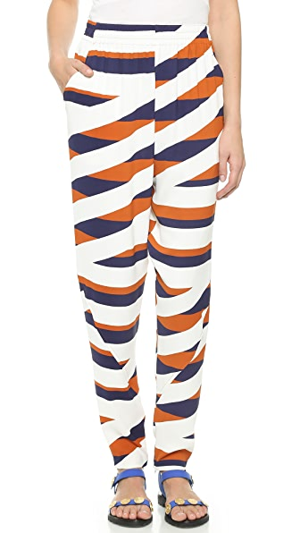 Kenzo Kenzo Z Stripes Pants (Brown)
