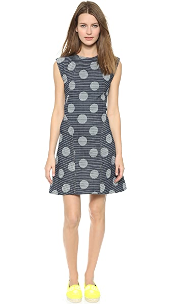 Kenzo Kenzo Denim Dots & Stripes Dress (Blue)