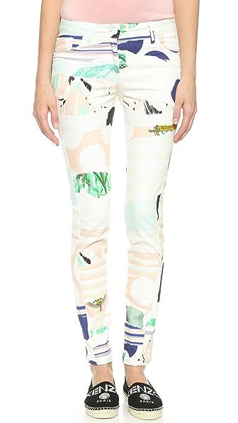 Kenzo Kenzo Torn Paper Skinny Jeans (Beige\/Sand\/Tan)