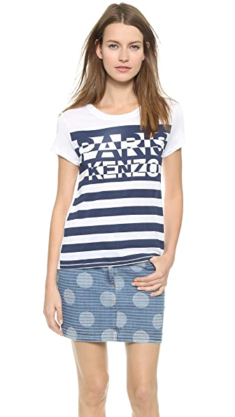 Kenzo Kenzo Striped Paris Tee (White)