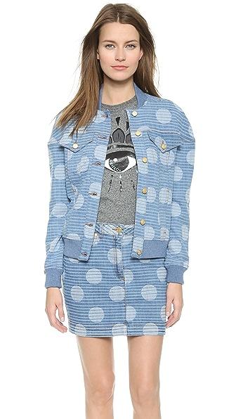 Kenzo Kenzo Denim Dots & Stripes Jacket (Multicolor)