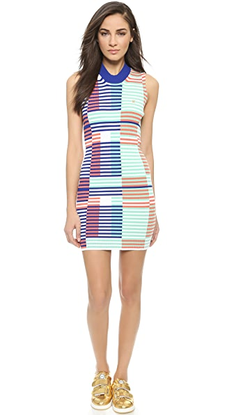 Kenzo Kenzo Intarsia Rib Fitted Dress (Beige\/Sand\/Tan)