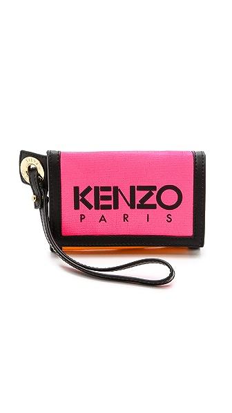 Kenzo Kenzo Kanvas Velcro Wallet (Red)