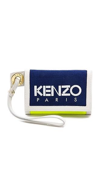 Kenzo Kenzo Kanvas Velcro Wallet (Blue)