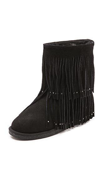 Koolaburra Savannity Fringe Shearling Booties