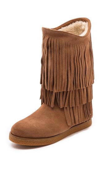 Koolaburra Josie Fringe Shearling Lined Boots