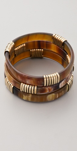 Kora Set of 3 Wide Tri Wrap Bangles
