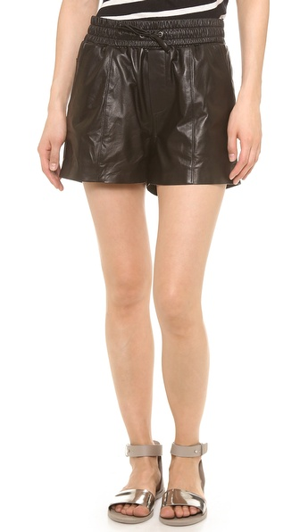 KORAL Mina Leather Jogging Shorts