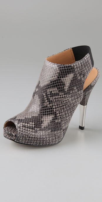 KORS Michael Kors Naples Open Toe Booties