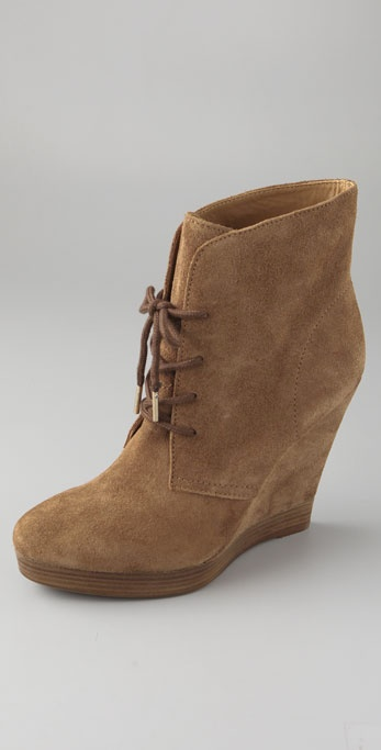 KORS Michael Kors Channing Suede Wedge Booties