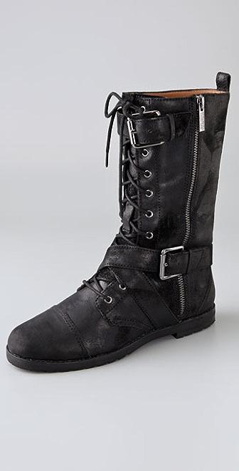 KORS Michael Kors Joplin Suede Combat Boots
