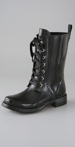 KORS Michael Kors Stow Lace Up Rubber Boots