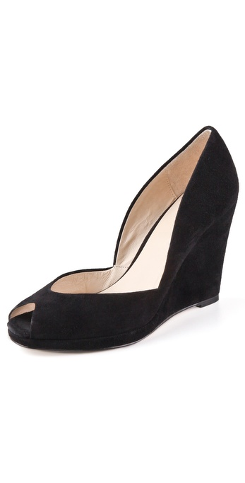 KORS Michael Kors Vail Suede Wedge Pumps