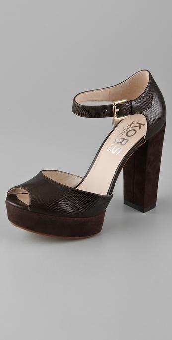 KORS Michael Kors Violett Platform Sandals