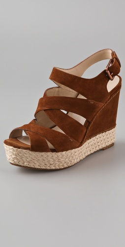 KORS Michael Kors Cynthia Suede Wedge Sandals