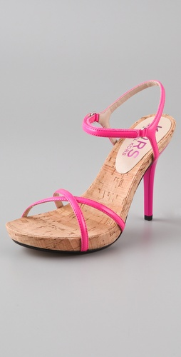KORS Michael Kors Hudson Cork Platform Sandals