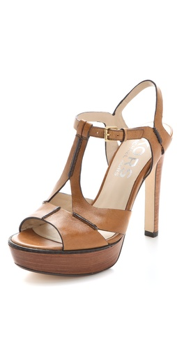 KORS Michael Kors Brookton T Strap Platform Sandals