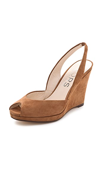 KORS Michael Kors Vivian Suede Wedge Pumps