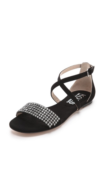 KORS Michael Kors Adia Jeweled Flat Sandals
