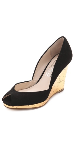 KORS Michael Kors Vail Peep Toe Wedge Pumps at Shopbop.com