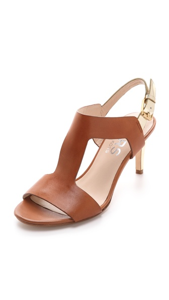 KORS Michael Kors Xyla Low Heel T Strap Sandal