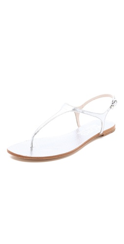 KORS Michael Kors Joni Metallic Snakeskin Sandals