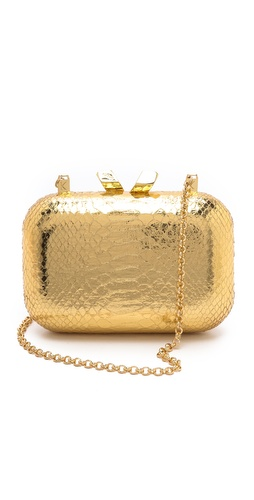 Kotur Margo Embossed Snake Clutch at Shopbop / East Dane