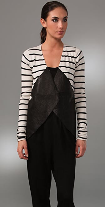 Kimberly Ovitz Hendron Cardigan with Leather